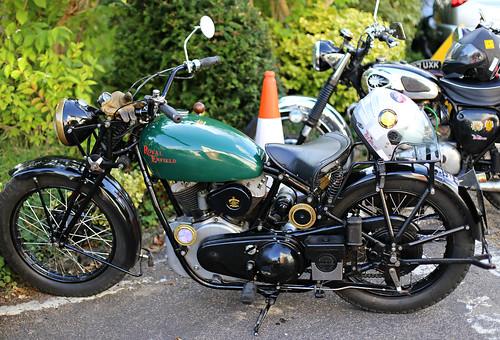Motorcycles at Elham, Kent