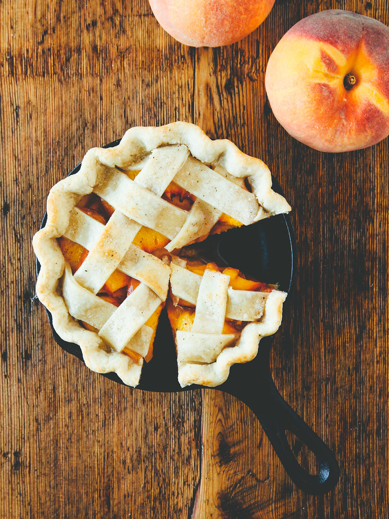 Peach cardamom pie with coconut oil crust | For Thom, with love | Oh ...