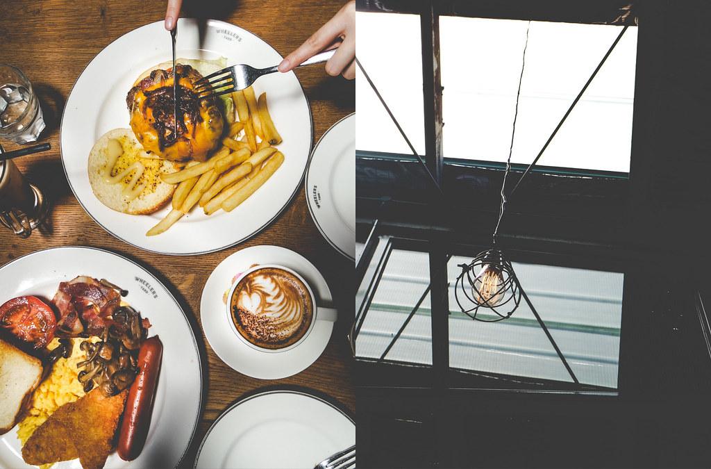 Wheeler's Yard Signature Hum Bao Bao, Big Breakfast & Cappuccino
