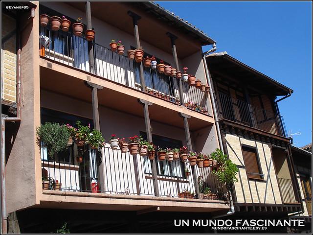 Casas en Garganta la Olla, La Vera. Extremadura, España.