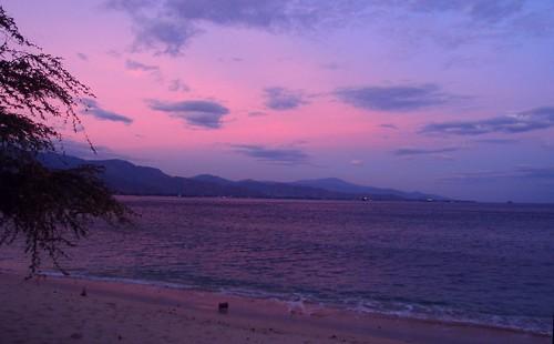beach clouds sunrise dili timorleste