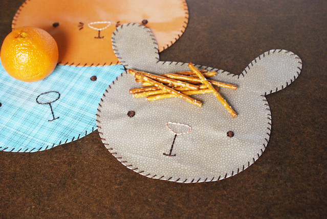 Animal Face Snack Mats