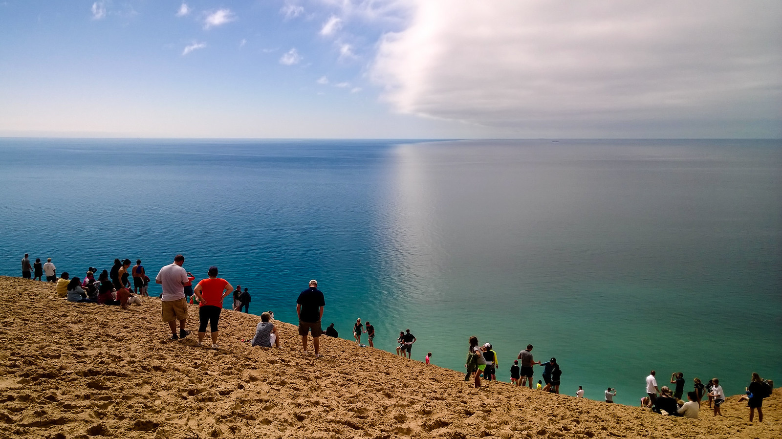 Lake Michigan overlook at Pierce Stocking Scenic Drive
