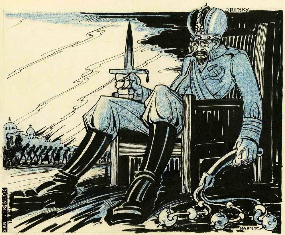 关于托洛茨基的宣传画09