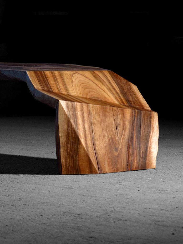 walnut coffee table with garderobe baumkante
