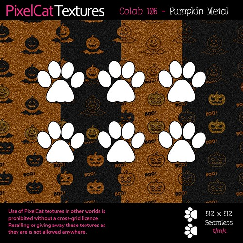 PixelCat Textures - Colab 106 - Pumpkin Metal