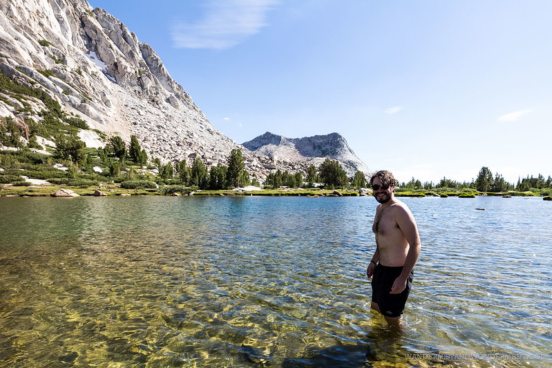 A quick dip in Fletcher Lake