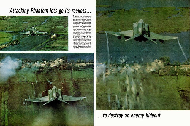 LIFE Magazine  9 Sept 1966 (2) - Attacking Phantom lets go its rockets to distroy an enemy hideout
