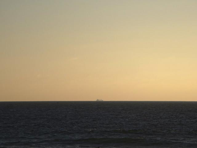 ship on the horizon POV Ocean Beach, San Francisco (2014)