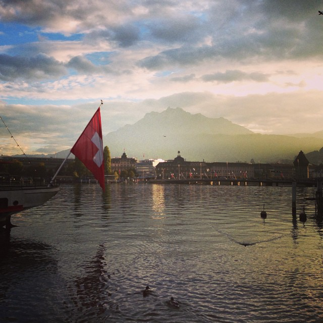 #luzern #lucerne #switzerland #swiss #sunset #仙气 #瑞士