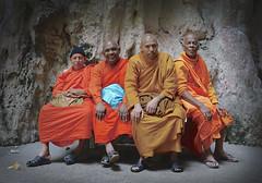 Sri Lankan monks at Batu Caves
