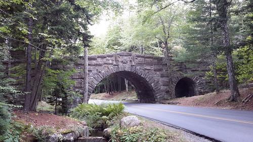 Carriage road stone bridge