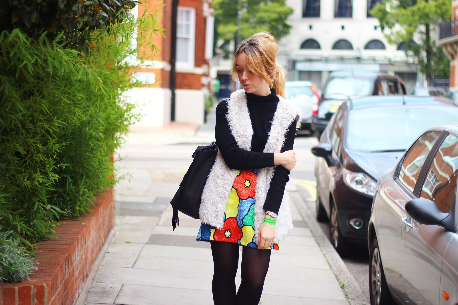 5boohoo, outfit, highstreet, retro, fashion, fauxfur