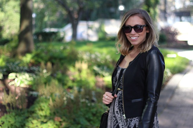 Maxi Dress   Leather Jacket   Outfit   #LivingAfterMidnite