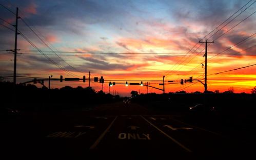 sunset night mississippi tupelo