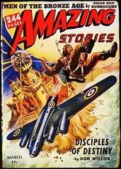 Amazing Vol. 16, No. 3 (March, 1942). Cover Art by Robert Fuqua