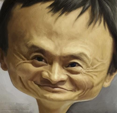 digital caricature of Jack Ma - 4