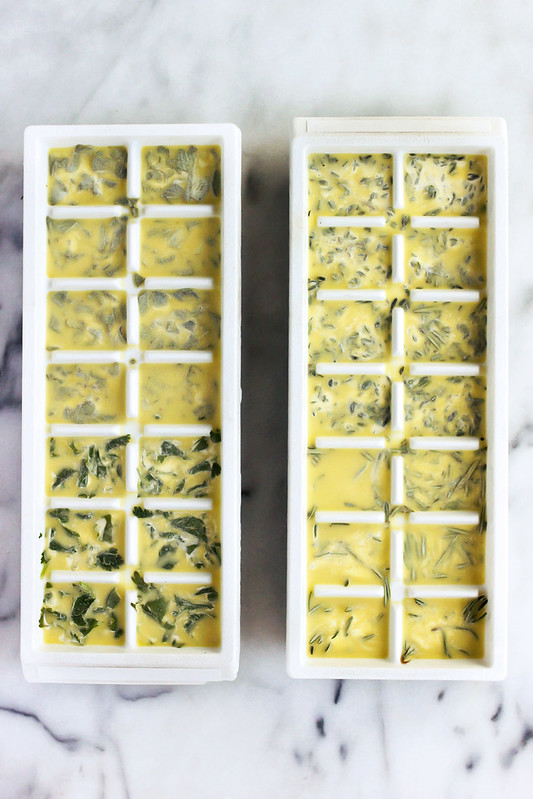 How-to Preserve and Freeze Fresh Herbs in Olive Oil