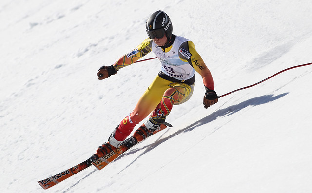 Fis Alpine Junior  World Ski Championship 2012. Morgan Megarry in super G Roccaraso, 03 Marzo 2012 (Pentaphoto/Marco Trovati)