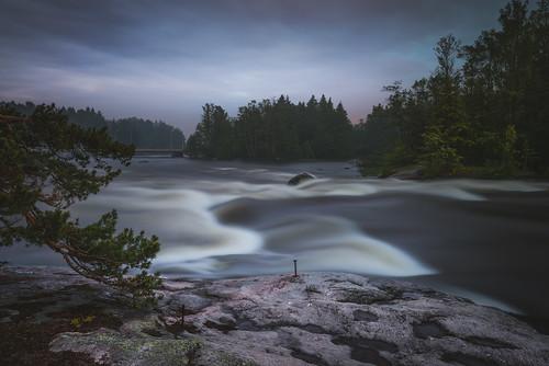 longexposure night finland nikon midsummer rapids le nikkor rapid jyrki kotka d600 1635mm salmi langinkoski