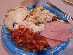 Potluck lunch at the reception for my father'…
