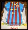 Messi's shirt cake