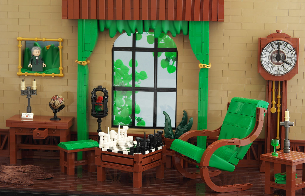 Green Lounge (custom built Lego model)