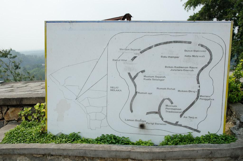 The map of Bukit Malawati Kuala Selangor.