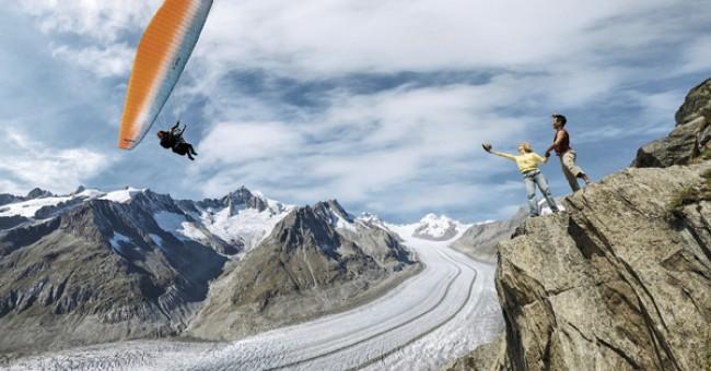 Aletsch – největší Apský ledovec v Evropě
