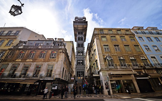 Elevator to the upper City, Lissabon - Portugal.