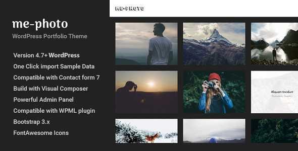 Mephoto WordPress Theme free download
