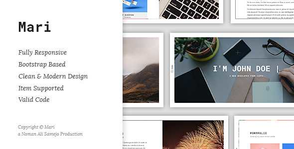 Mari WordPress Theme free download