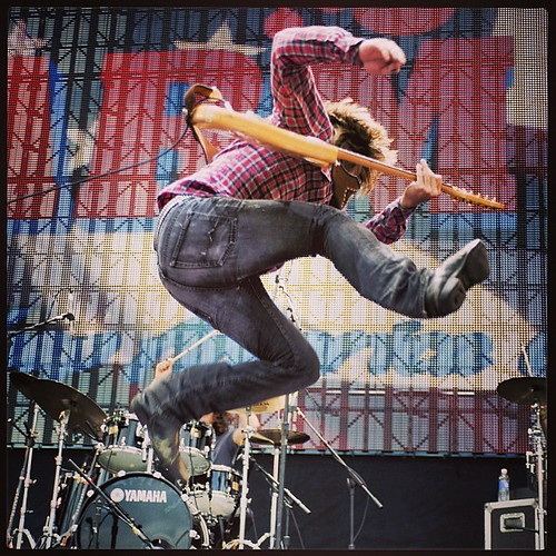 Lukas Nelson gets air at Farm Aid 2013. #tbt