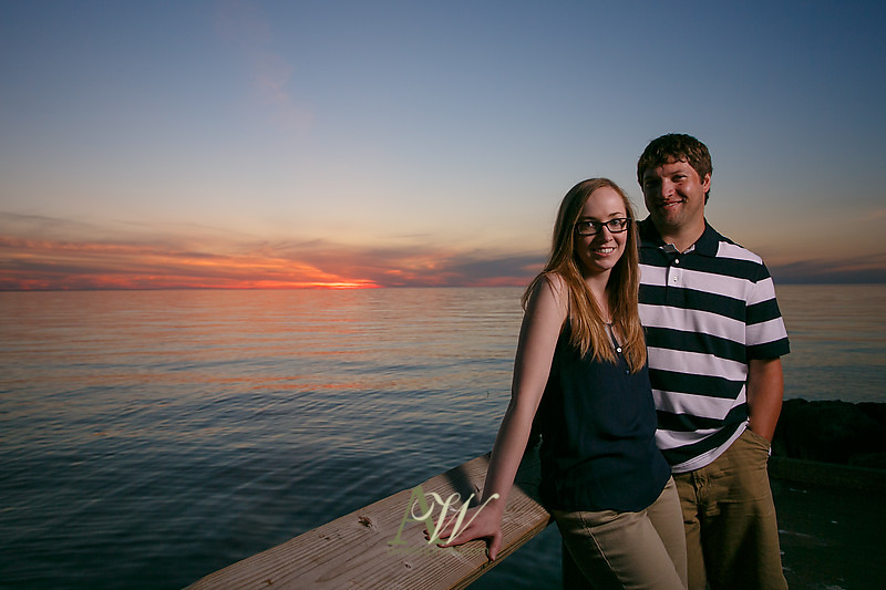 Rochester NY Engagement Photography Photographer Photo Andrew Welsh RIT Beach Lake Sunset