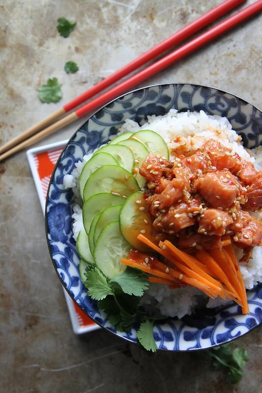 Spicy Salmon Sushi Bowl