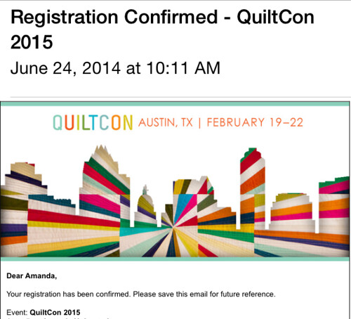 QuiltCon - Here I come!