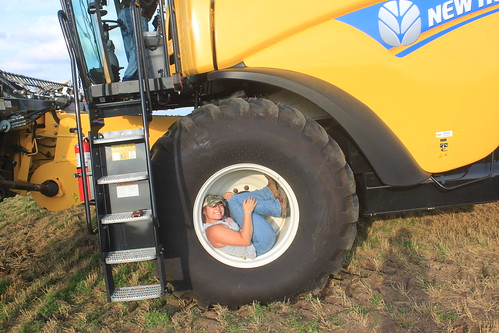 Hangin' out in the tire, no big deal.