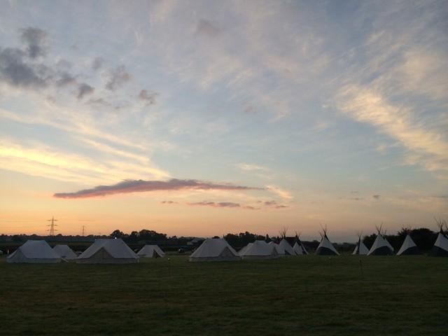 Sunrise over Wild Meadow Village