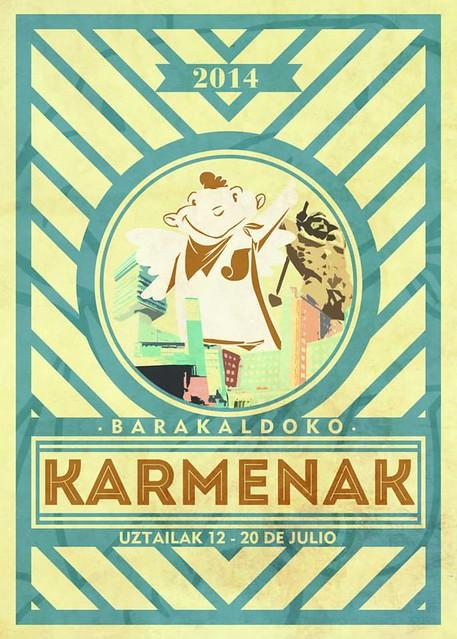 Cartel de Fiestas de Barakaldo 2014