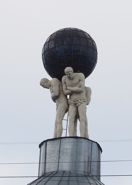 Carrying the world in Riga (Latvia)