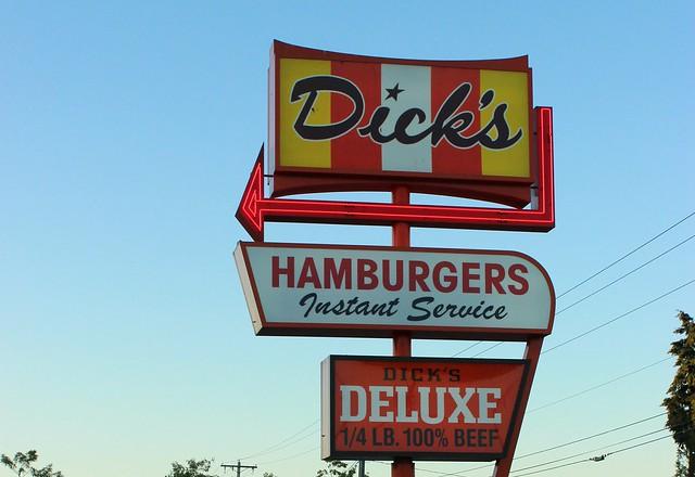 dick's burgers sign