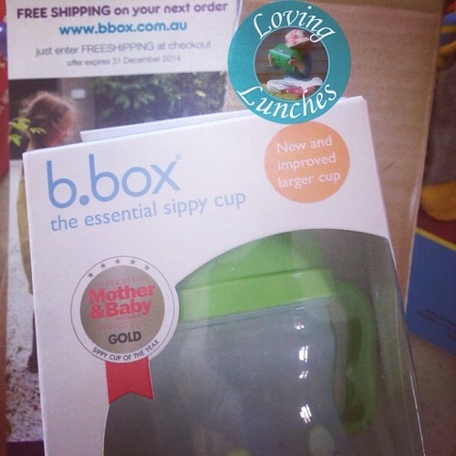Loving surprise mail from @b.box.au… I thought a replacement lid was coming but a whole sipper arrived! Thank you