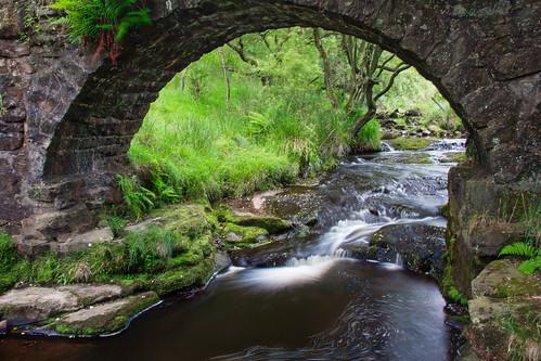 bridge trees colour water stone river landscape stream long exposure rapids hebden hdr midgehole