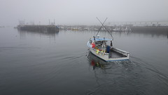 The Lady J Heads Out Into Misty Gloucester Harbor
