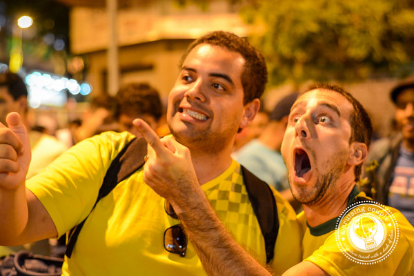 Excited Fans at Brazil World Cup 2014