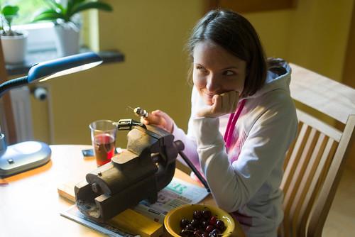 Sarah sewing