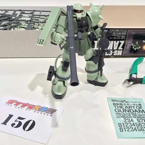ザク、完成!来年の東京でのガンダム展で展示されますよ。