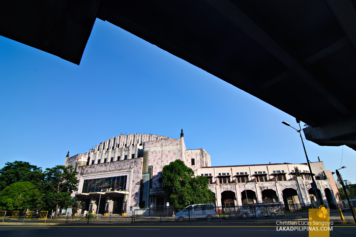 The Manila Metropolitan Theater from Lawton