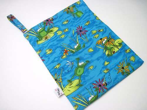 Frogs on Lilypads Wet Bag