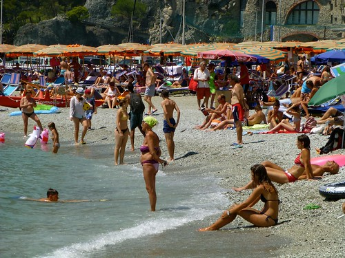 Sunbathing at Monterosso